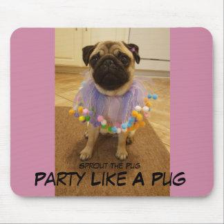 O partido gosta de um Pug Mouse Pad