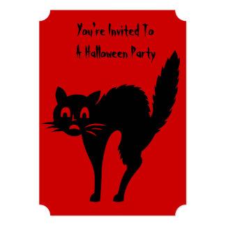 o partido irritado engraçado do Dia das Bruxas do Convite 12.7 X 17.78cm