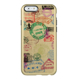 O passaporte do vintage carimba capas de iphone do