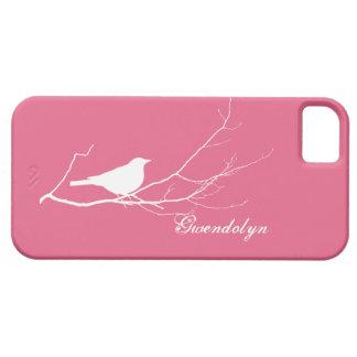 O pássaro empoleirou-se no chique cor-de-rosa capa barely there para iPhone 5