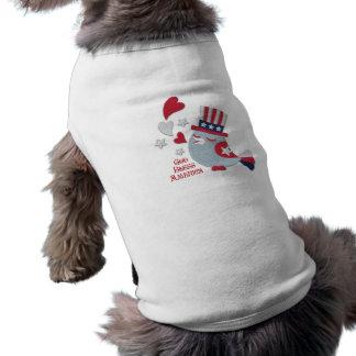 O pássaro patriótico Tweets deus abençoe América Camiseta