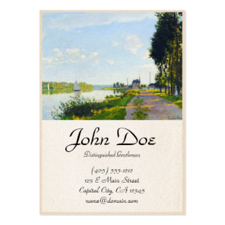 O passeio em Argenteuil Claude Monet Cartão De Visita Grande