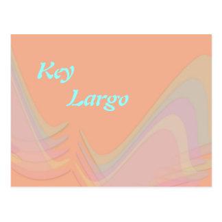O Pastel chave de Florida do Largo voa o cartão Cartoes Postais