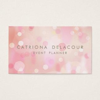 O Pastel colorido ilumina o cartão de visita de