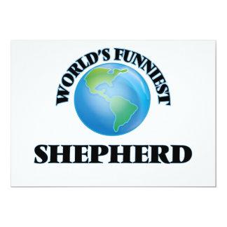 O pastor o mais engraçado do mundo convite 12.7 x 17.78cm