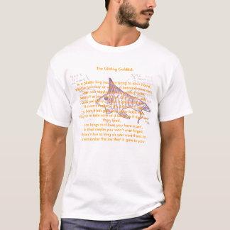 O peixe dourado de deslizamento, rimas animais camiseta