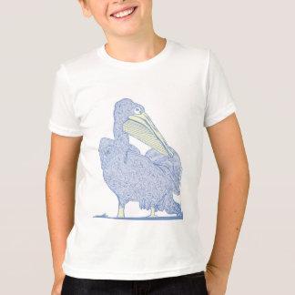 O pelicano caçoa a camisa da campainha