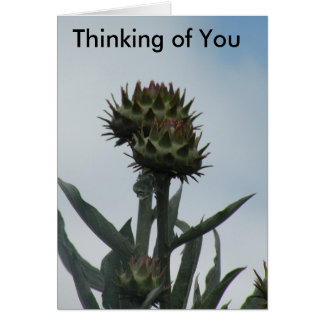 O pensamento de você carda cartão comemorativo