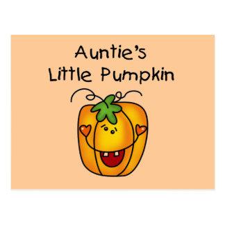 O Pequeno Abóbora Camiseta e presentes do Auntie Cartão Postal