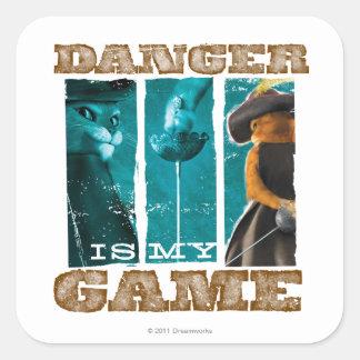 O perigo é meu jogo adesivo quadrado