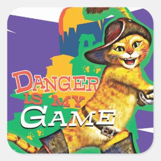 O perigo é meu jogo adesivos quadrados