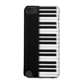 O piano fecha a capa do ipod touch preta & branca