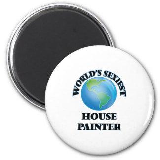 """O pintor de casa o mais """"sexy"""" do mundo imãs de refrigerador"""