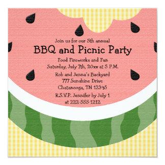 O piquenique da melancia convida convites