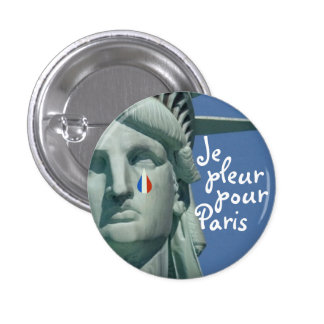 O pleur de Je derrama o botão de Paris Bóton Redondo 2.54cm
