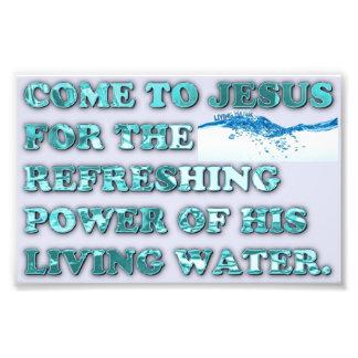 O poder de refrescamento da água viva de Jesus Fotografias