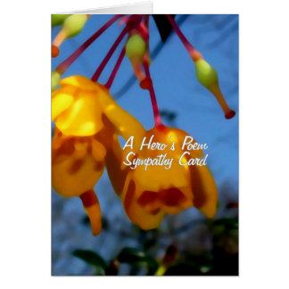 O poema de um herói, cartão de simpatia