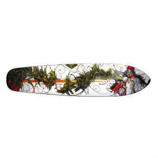 O polegar verde - plataforma da arte Sk8 da rua Shape De Skate 18,7cm