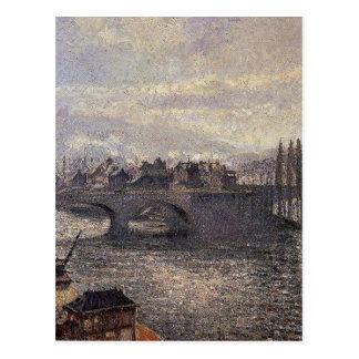 O Pont Corneille, Rouen, efeito da manhã por Camil Cartão Postal
