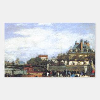 O Pont des Arts e o Institut de France Adesivo Retangular