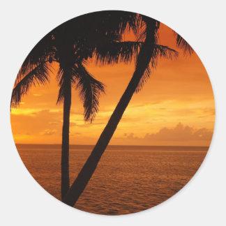 O por do sol da chave de Florida Adesivo