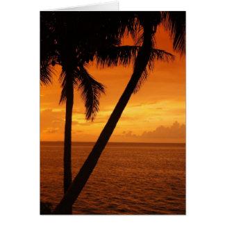 O por do sol da chave de Florida Cartão Comemorativo