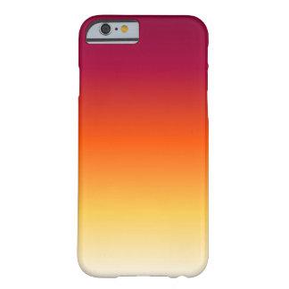 O por do sol desvanece-se capa barely there para iPhone 6
