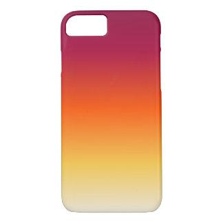 O por do sol desvanece-se capa iPhone 7