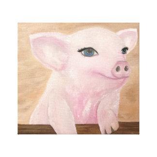 O porco de Jo em canvas