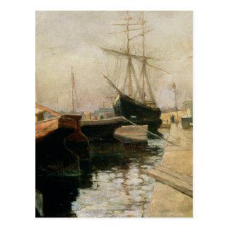 O porto de Odessa, 1900 Cartão Postal