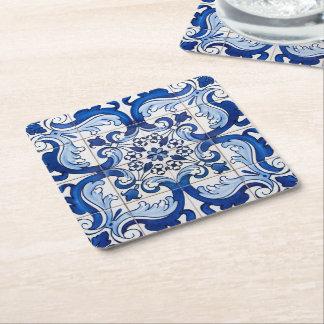 O português de Azulejo vitrificado telha o teste Porta-copo De Papel Quadrado