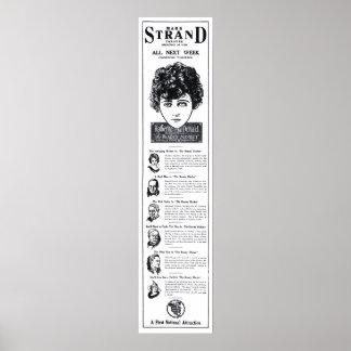 O poster 1920 do anúncio do filme do vintage do me