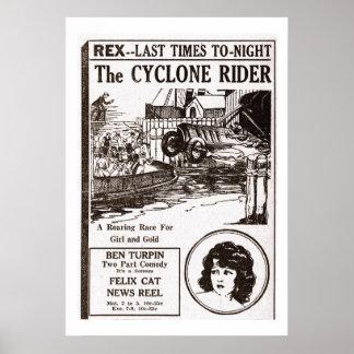 O poster 1925 do anúncio do filme do vintage do ca