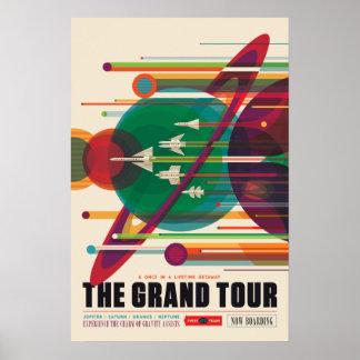 O poster da viagem espacial da excursão grande pôster