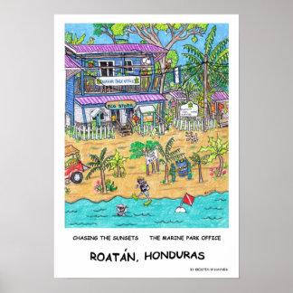 O poster do escritório do parque marinho pôster