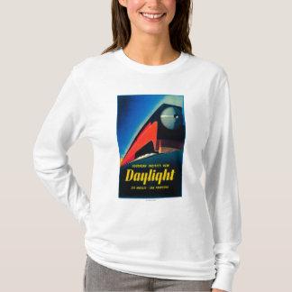 O poster do promocional do trem da luz do dia t-shirt