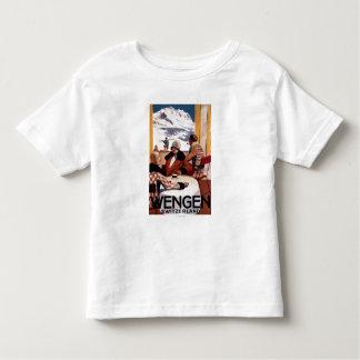 O poster em declive do promocional do clube tshirts
