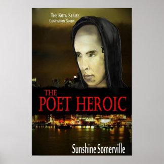O poster heróico do poeta