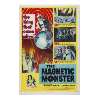 O poster magnético do monstro