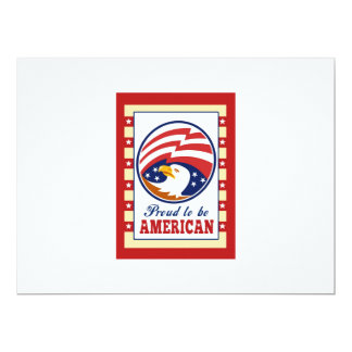 O poster orgulhoso americano do Dia da Convites Personalizados