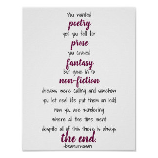 o poster para moldá-lo quis a poesia