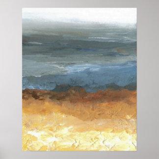 O poster Sandy do oceano de CricketDiane negligenc