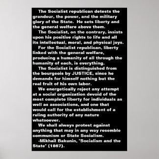 … O poster socialista das citações de Bakunin Pôster