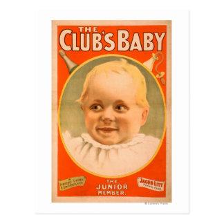 O poster teatral do bebê do clube cartão postal