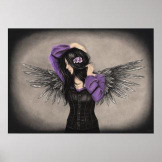 O poster triste do anjo do coração