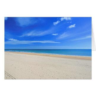 O Praia faz Cabeco Cartão Comemorativo