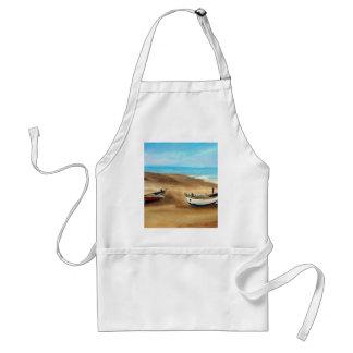 O Praia faz Meco - óleo - 20x40 Avental