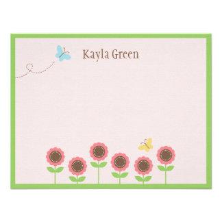 O precioso floresce cartões de agradecimentos liso convite personalizado