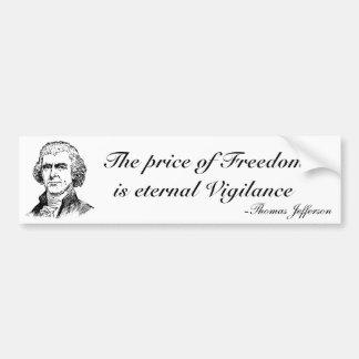 O preço da liberdade adesivo para carro