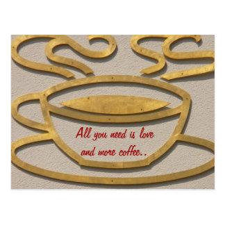 O presente do presente do amante do café cartão postal